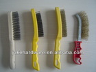 plastic handle brass wire brush for rust removal