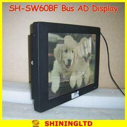 SH-SW1560BF 15 inch digital signage 3g wifi bus dvd player