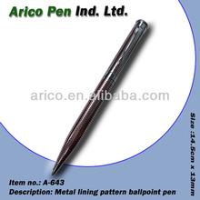 Shinny chrome plated metal ball pen