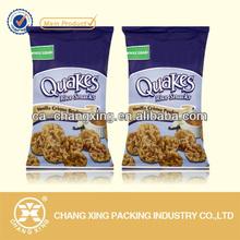 Custom label plastic rice cake packaging bag/plastic food bag for rice cake
