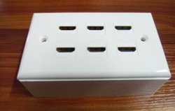 AV Wallplate, PVC/Copper, 1 Conductor, 1, 1 Ports, HDMI w/Ext, White