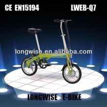 "14"" 200W MOTORS Portable Folding Electric Hybrid Bicycle Sporting Goods e bike mini electric bicycle"