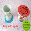 Promotional Eco-friendly Catoon Silicone Coffee Mug Coaster
