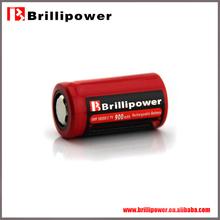 Brillipower 3.7v 800mah lithium battery/18350 3.7v 800mah lithium battery/rechargeable 3.7v 800mah lithium battery