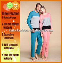2014 newest lovers rayon sleepwear set, couples pajamas set , couples loungewear, Guangzhou, wholesale, long sleeve