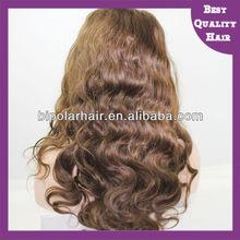 Beautiful curly virgin Peruvian hair full lace wig