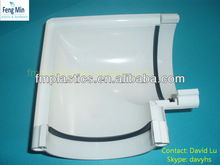 PVC HALF ROUND GUTTER 90 DEGREES ANGLE IN 4 INCHES(112MM)