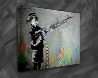 Boy with Gun Bansky Canvas Artworks