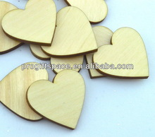 2014 hot sell handmade wooden Crafting Supplies/Laser cut wooden hearts in China