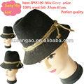Venta al por mayor/azo/oem/haciendo mini gángster sombrero sombreros de hombre de moda el pelo de lana tapas de lana cap100% de fieltro de lana podría imprimir la insignia/niños