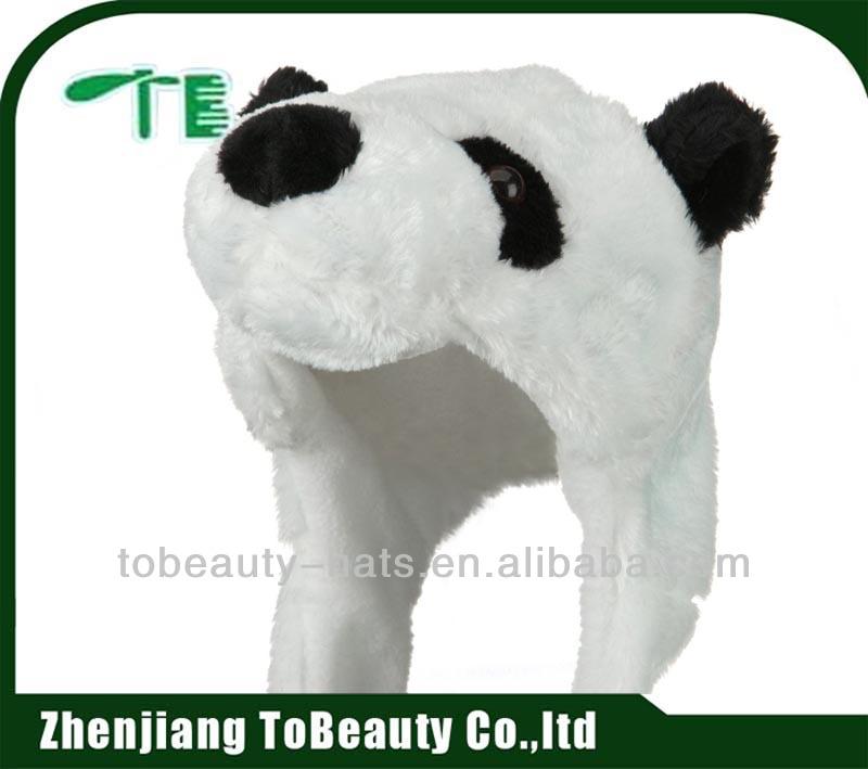 sevimli peluş hayvan panda şapka