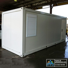 galvanized steel structure building low price, 20ft flat pack container home