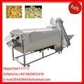 De tipo grande lavadora vegetales& pelador de vegetales y frutas de patata zanahoria rábano taro de ñame de yuca de lavado y pelado de la máquina