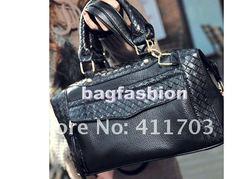 New women black zipper bag street bags tote shoulder bags
