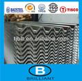 Chine tôle de toiture transparente/ondulé feuille de toiture en métal