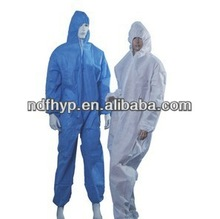 protective disposable coverall for foods industrial