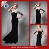 P0568 Long Elegant One Long Sleeve Multi-layer Ruffles Prom Dresses 2014