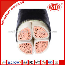 XLPE insulation PVC coated underground mining cable