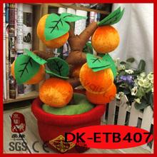 2014 new design plush gifts plush artificial orange tree