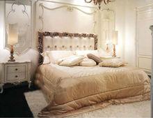 Wooden Baroque Bed BKB-09