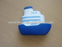 2014 eco-friendly pu boat shaped stress toy