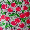 100% cotton reactive printing flannelette fabric bright color apple prints direct factory