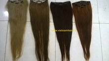 Straight natural looking high quality Clip in colors Vietnam hair