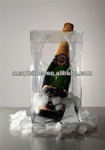 Beer bottle vinyl wine carry bag pvc cooler tote bag