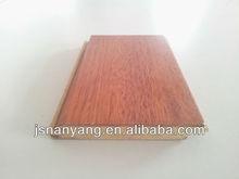 HDF core click-system Merbau 3-layer engineered wooden flooring parquet