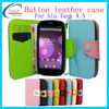 Colorful button phone leather case for blu tank 4.5