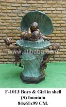 Boys and girld shell fountain