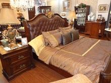 Golden Carving Curve Bed