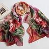 2014 classical flower pattern lady silk shawl