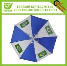 2014 Promotional Brazil Flag Umbrella Cap