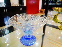 Fábrica de atacado flor gravado limpar fruta ou salada tigela ( fábrica de vidro )