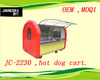 2014 new cart JC-2230 Jancole hot dog vending trailer/cart pizza truck/kitchen hamburger van