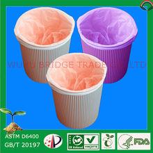 Bridge 100% biodegradable plastic bag manufacturing trash bags