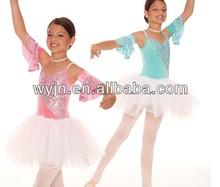 2014-girl caliente de la flor ballet traje de la danza del vestido - dashing mujeres ballet dancewear - niños y adultos de ballet del cabrito de la danza de la falda