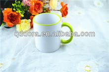 sublimation blank rim color mugs,Inside Color Sublimation Personalized Mugs Wholesale,Ce ceramic mug