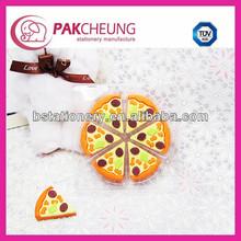delicious mini pizza eraser