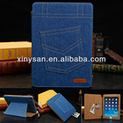 New High Quality Jeans Case for Ipad air,Fashion PU Leahter Case for ipad air/ipad 5 with Card Slot