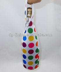 Custom Neoprene wine bottle cooler bag