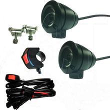 spot light wiring kit e-bike headlight high power round led work light lamp, superbike spare part 12v high intensity led