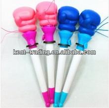 boxing pen bounce fancy plastic logo ballpoint pen
