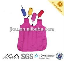 Custom allover pattern print polyester foldable shopping bag