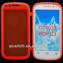 Flip TPU case For Alcatel OT4033/POP C3