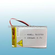 3.7v 1300mah rc li-polymer batteries rechargeable