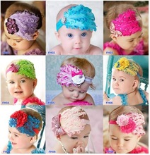 2014 hot sale, top baby crochet headband wholesale, baby hair extensions rubber bands with flower for kids children
