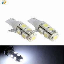 T10 9 SMD LED 5050 white car side light car led lighting auto led light 100pcs/lot wholesale