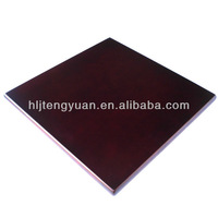 Square Cheap Laminate Resin Table Coated Table Tops